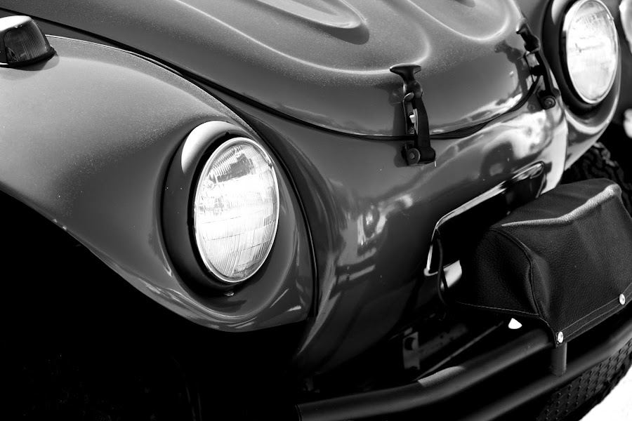 Reflections in Black and White by Cathy Harper - Black & White Objects & Still Life ( vw, love, bugs, volkeswagon, cars, super cars, reflections, volkswagon )