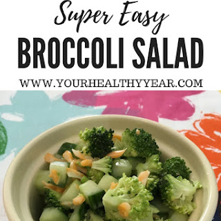 Easy Broccoli Salad with Cucumber.