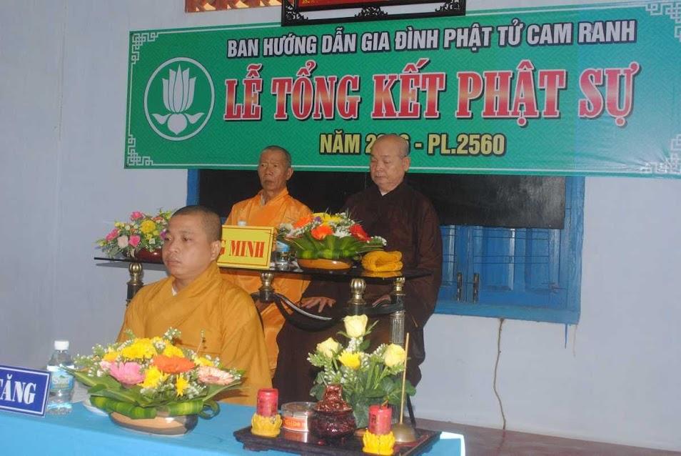 Lễ Tổng kết Phật sự năm 2016
