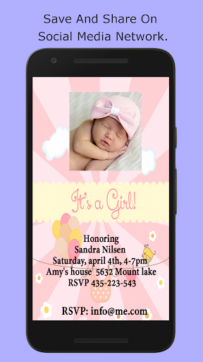 Baby Shower Invitation Maker screenshot 12