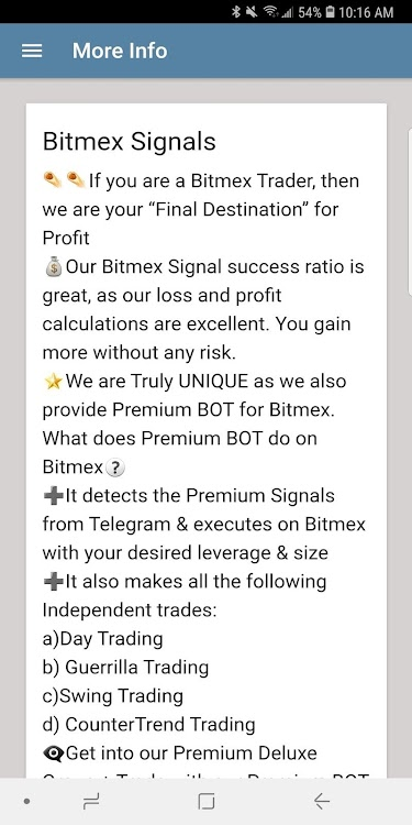 Bitmex Signals – (Android Apps) — AppAgg