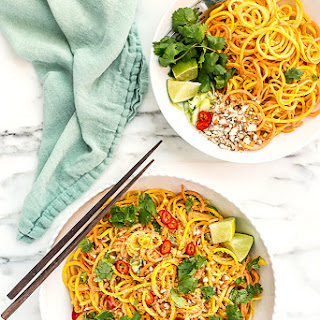 Root Vegetable Noodle Salad with Sesame-Almond Dressing