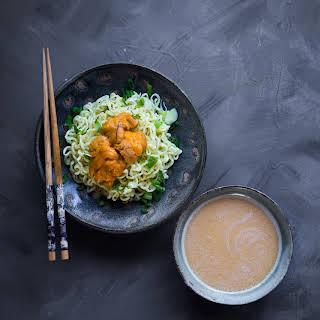 Sea Urchin Tsukemen (Dipping Noodle).
