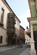 Photo: Side street in Prague-the architecture in all of Central Europe was really something to see.
