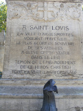 "Photo: ""The city of Aigues-Mortes, wishing to perpetuate the most glorious event in its annals, has raised this statue in the place of embarkation of its Christian heroes for the 6th and 8th Crusades."""
