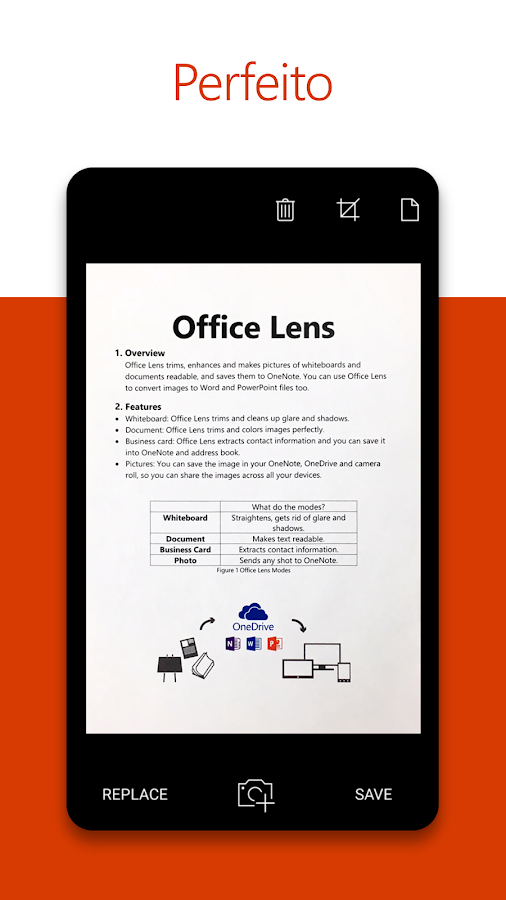 Office Lens: captura de tela