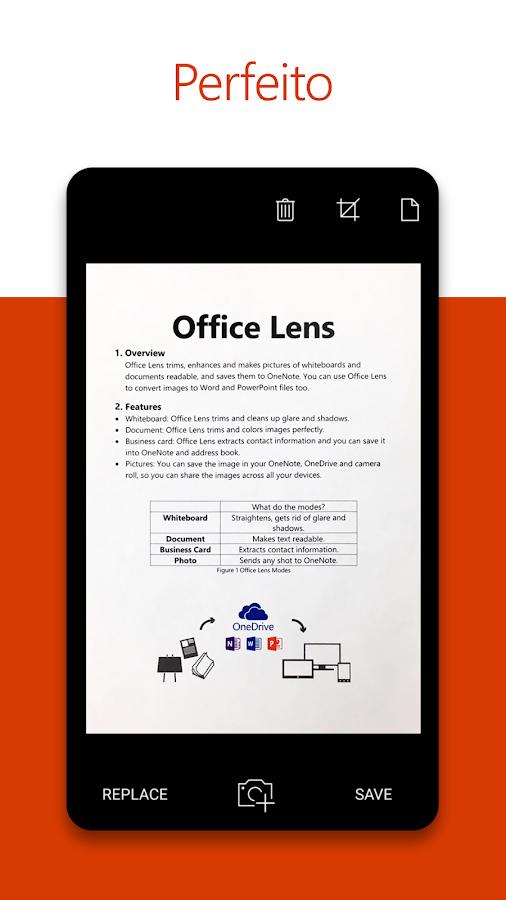 Office Lens: captura de tela