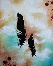 Photo: Feathers 8x10 Acrylic on Canvas