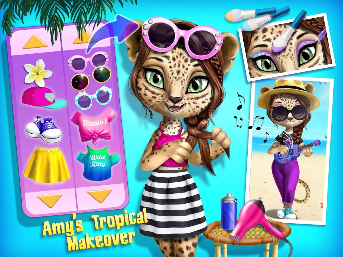 Jungle animal hair salon 2 tropical pet makeover for Hair salon 2