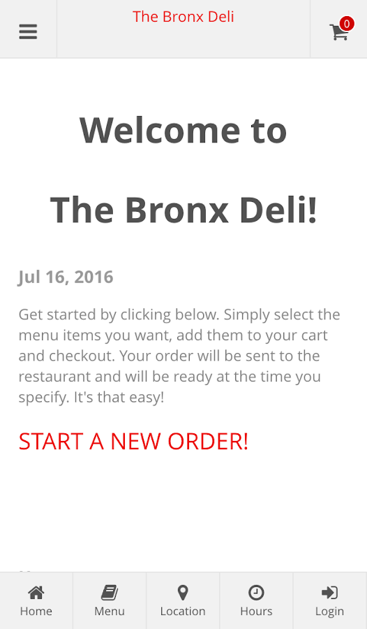 The Bronx Deli Online Ordering- screenshot