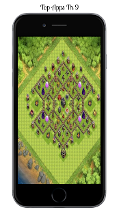 New coc Base Town Hall 9 - náhled