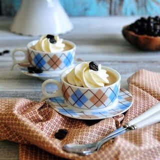 Coffee Panna Cotta with Mascarpone Cream.