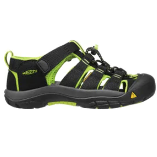 Keen Newport H2 Sportsandal Junior Black/Lime Green Stl: 27/28
