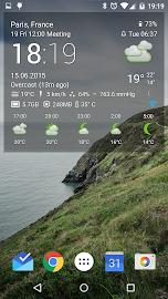 Transparent clock & weather Screenshot 8