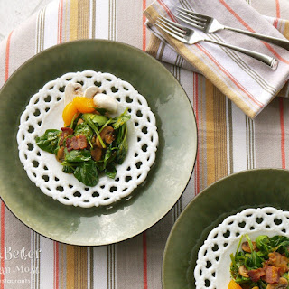 Mandarin Spinach Salad with Hot Bacon Dressing Recipe