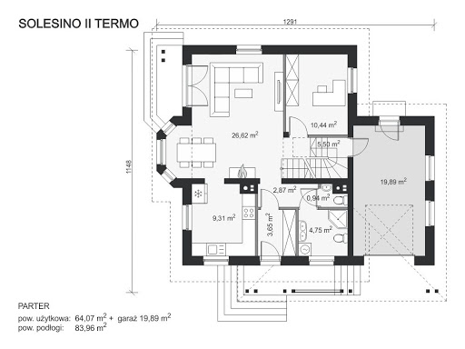 Solesino II Termo - Rzut parteru
