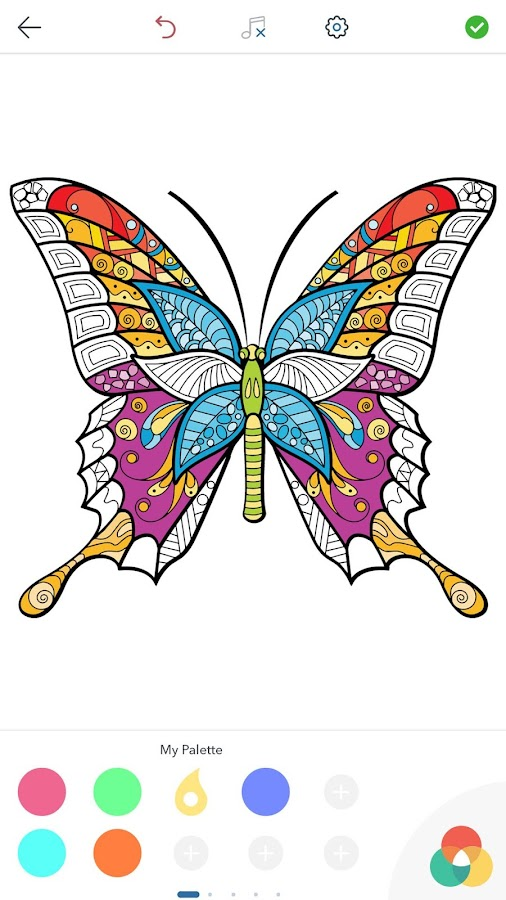 Adult Butterfly Coloring Pages Screenshot
