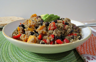 Photo: Black Bean and Butternut Squash Quinoa - A healthy side dish made with roasted butternut squash, black beans and quinoa.  http://www.peanutbutterandpeppers.com/2012/12/22/black-bean-and-butternut-squash-quinoa-tacos-and-more/  #quinoa   #blackbeans   #tacos   #vegan   #vegetarian   #butternutsquash