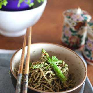 Coriander & Nori 'Pesto' Soba w/ Wok Seared Greens