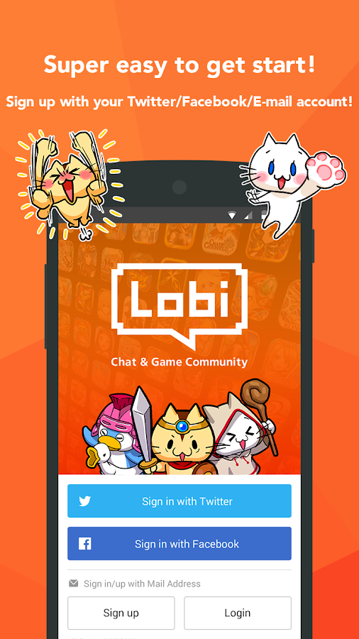 Lobi / Free game, Group chat- screenshot