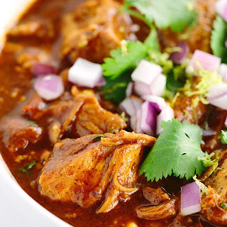 Slow Cooker New Mexican Red Pork Chili.