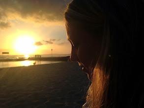 Photo: Sunset on the beach