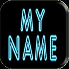 3D Il mio Nome Neon Wallpaper icon