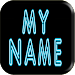 3D My Name Neon Live Wallpaper Icon