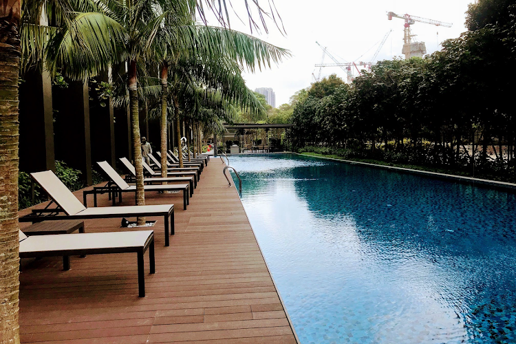Luxury pool at Commonwealth Ave Residences