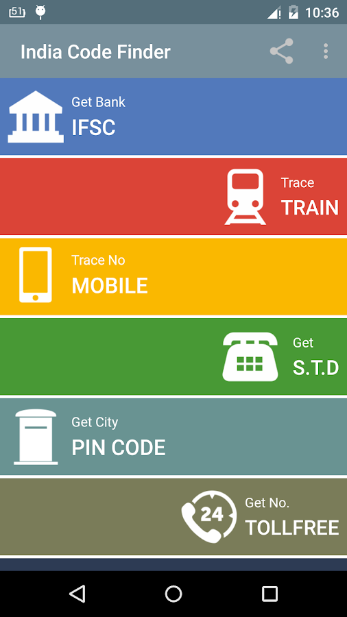 Pin STD IFSC PNR FM DTH Search- screenshot