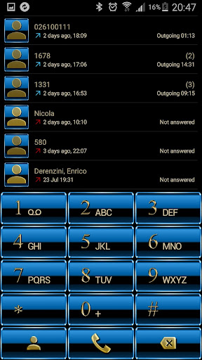 Theme for ExDialer Blue Gold