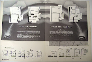 Photo: An insert was stapled in with a second airbrushed piece, this one done with black ink. Again, I set all the type with an old Itek phototypesetting machine (pre-Macintosh), and inked all the illustrations (floor plans).