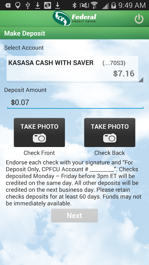 CP Federal Mobile- screenshot