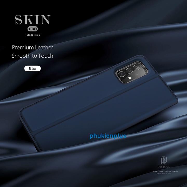 Bung lụa với Bao da Dux Duics Skin Galaxy A52, A52 5G sang bền - 3
