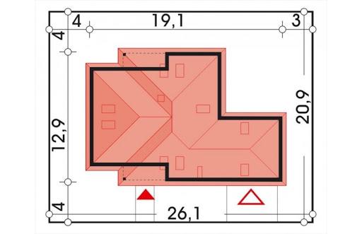 Akacja II wersja D z podwójnym garażem - Sytuacja