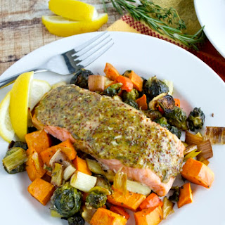 Roasted Maple-Mustard Salmon & Root Vegetables