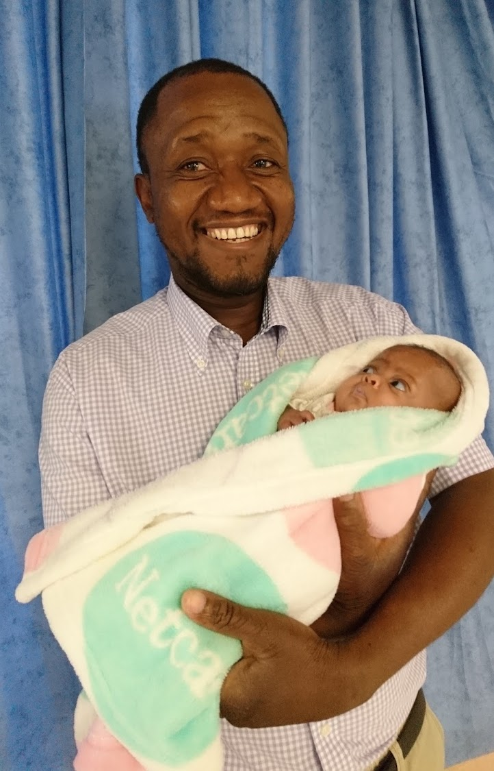 Dr Mnisi and a growing baby Jazeel.