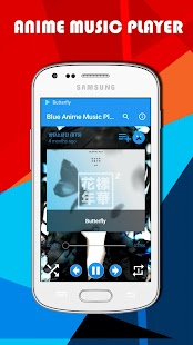 Blue Anime Music Player- screenshot thumbnail