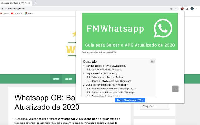 Baixar FMWhatsapp o APK Atualizado 2020