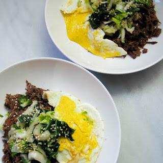 Furikake Hashbrowns with Kalua Pork & Kimchi