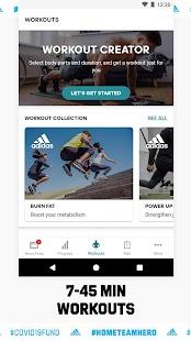 adidas Training by Runtastic - Workout Fitness App Screenshot
