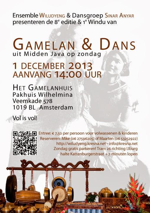 8e editie Concert Gamelan en Dans