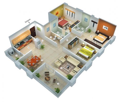 玩免費生活APP|下載3D家庭计划 app不用錢|硬是要APP