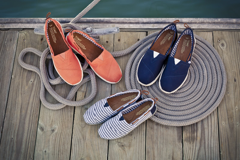 Photo: New style for summer: TOMS Nautical Biminis http://toms.sh/nautical-bimini Non-slip rubber outsole + eyeletes for ventilation…plus, they're awesome.