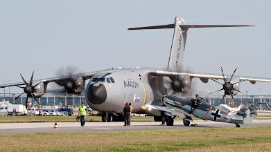 Photo: Airbus A400M + Me-109