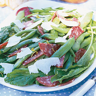 Sopressata and Roma Bean Salad with Pecorino