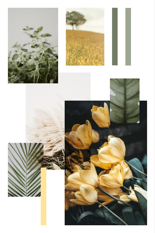 Fresh Floral Collage - Pinterest Pin Template