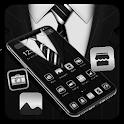 Simple Dark Black Business Classic Theme 💝 icon