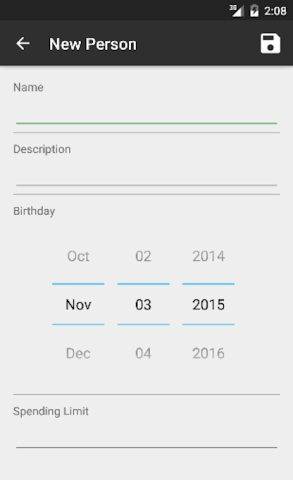 android Gift List Screenshot 2