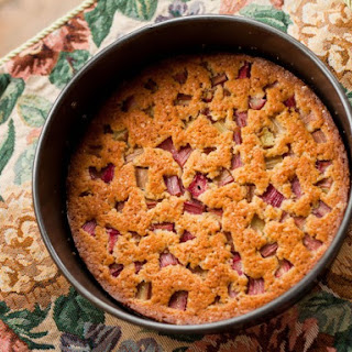 Impossible Rhubarb Pie